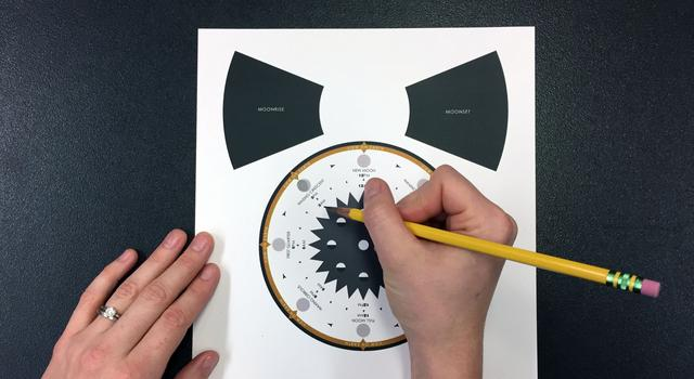 Moon Phases Calendar and Calculator Step 2 - NASA/JPL Edu