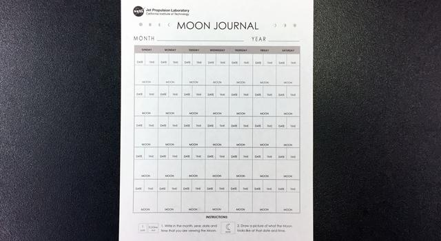 Moon Journal Activity Step 1 - NASA/JPL Edu