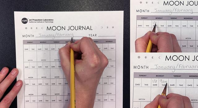 Moon Journal Activity Step 2 - NASA/JPL Edu