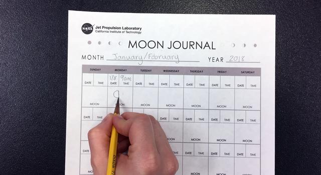 Moon Journal Activity Step 3 - NASA/JPL Edu