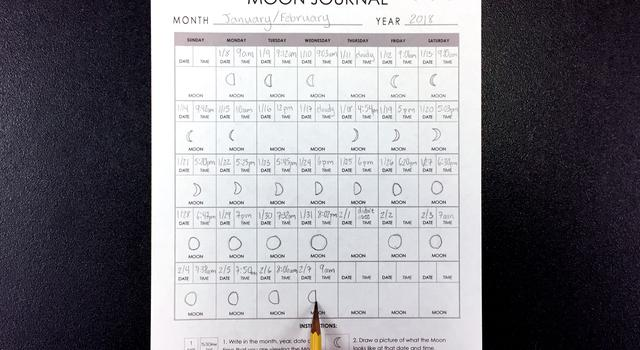 Moon Journal Activity Step 4 - NASA/JPL Edu