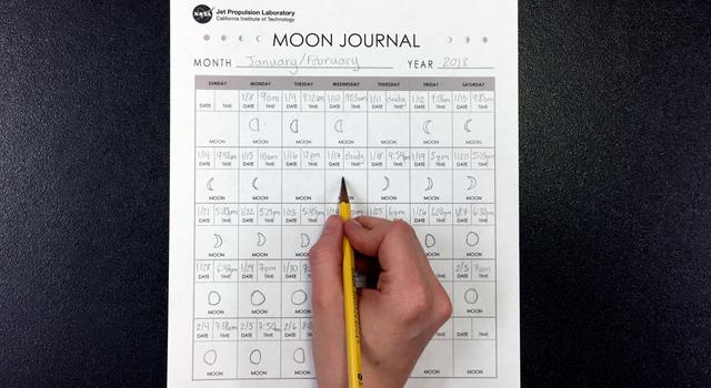 Moon Journal Activity Step 5 - NASA/JPL Edu