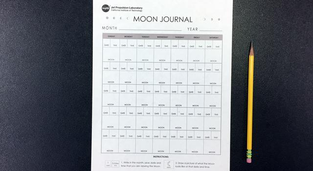 Moon Journal Activity Materials - NASA/JPL Edu