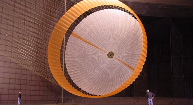 Testing the Mars Science Laboratory parachute inside the world's largest wind tunnel
