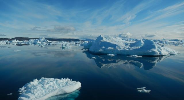 Sea ice in Greenland