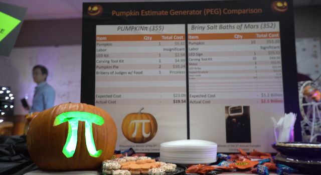 NASA/JPL Pumpkin Design Contest 2016 - Pi Pumpkin