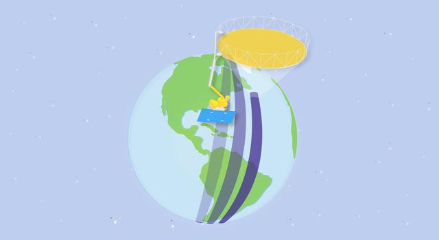 Satellite Solver, Pi in the Sky Math Problem –Illustration of the SMAP satellite orbiting Earth