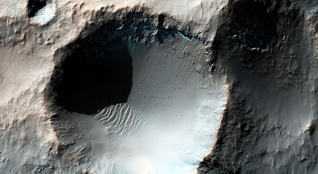 Craters on Mars as imaged by NASA's Mars Reconnaissance Orbiter