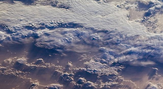 Satellite image of clouds over the Indian Ocean