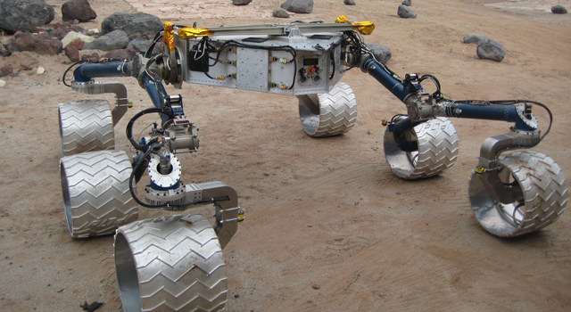 Mobility skeleton of the Curiosity rover