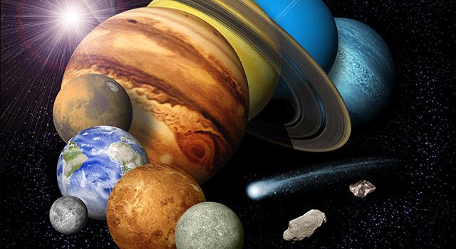 Solar System Family Portrait - Artist's Concept