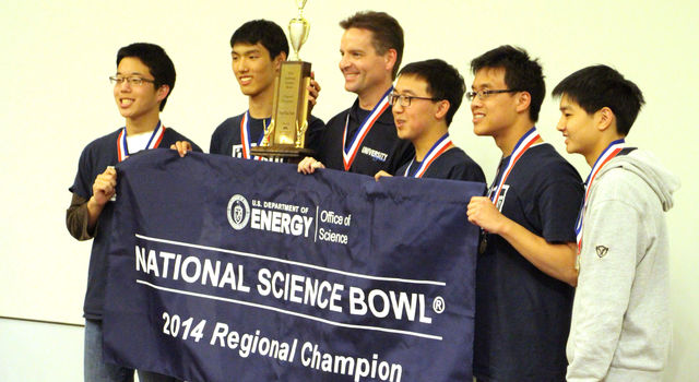 University High School at the Regional Science Bowl competition