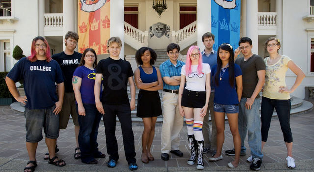 The cast of King of the Nerds