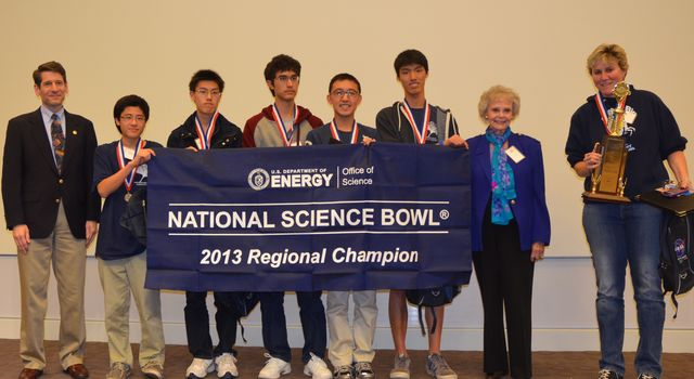 Regional Science Bowl 2013 winners
