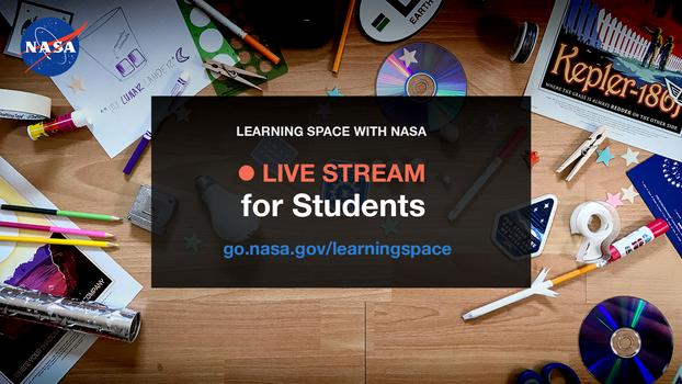Learning Space live stream graphic.