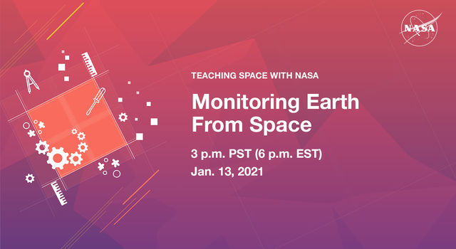 Promo image for Jan. 2021Teaching Space With NASA live stream