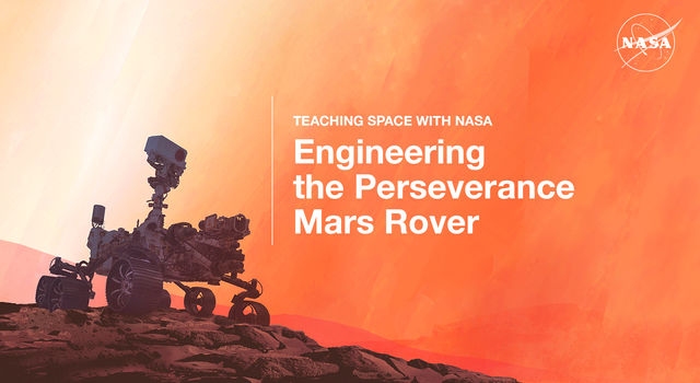 Graphic of the Perseverance rover on Mars