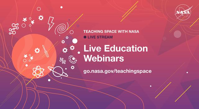 Teaching Space With NASA live stream promo graphic