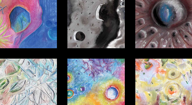 Collage of planetary artwork