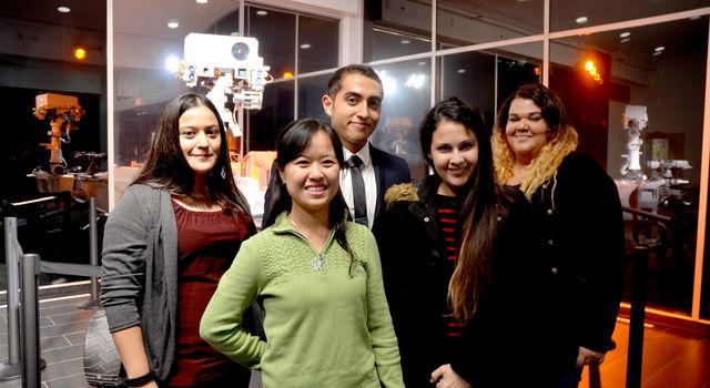 NCAS students Arlene Lopez, Khanh Pham, Jose Salinas, Arleena Faith and Laura Medina