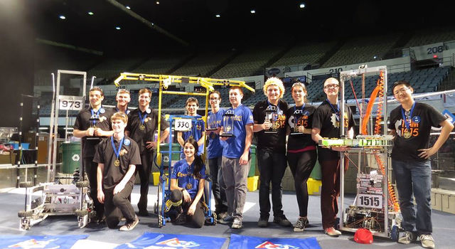 Winning Teams at the 2015 FIRST Robotics Los Angeles Regional competition