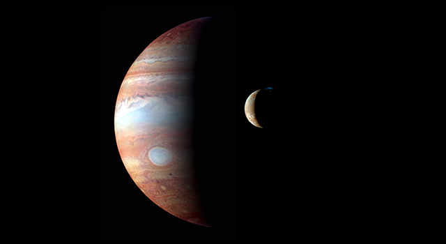 New Horizons false color image of Jupiter and Io