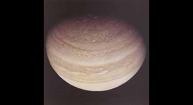 Pioneer 11 photo of Jupiter's north pole