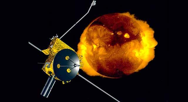 Artist's illustration of Ulysses at the sun
