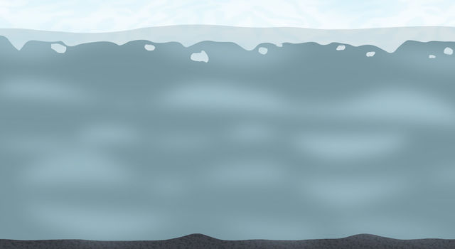 Vector graphic/illustration showing Enceladus' ocean.