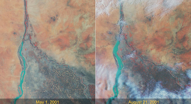 Effects of the Rainy Season Along the Nile
