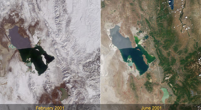 Winter and Summer in the Salt Lake Region