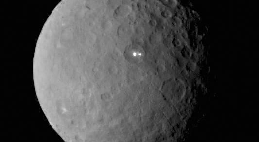 The dwarf planet Ceres and imaged by Dawn