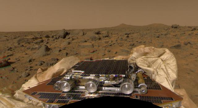 Mars Pathfinder and the Sojourner rover on the Red Planet
