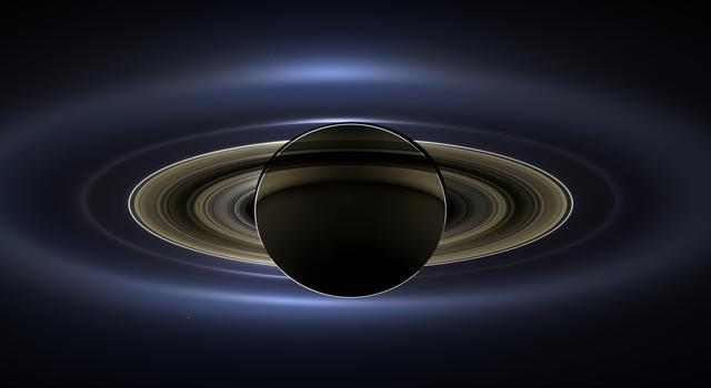 Saturn eclipse of the Sun as seen by the Cassini spacecraft