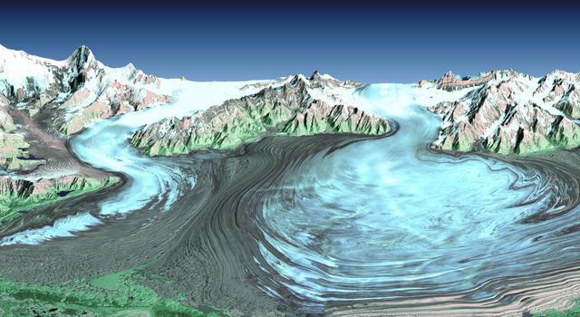 Malaspina Glacier in Alaska