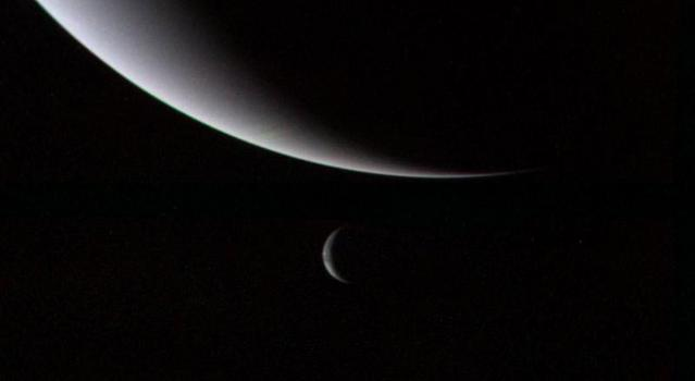 Neptune and its Moon Triton