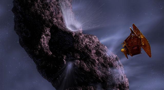 Deep impact mission illustration