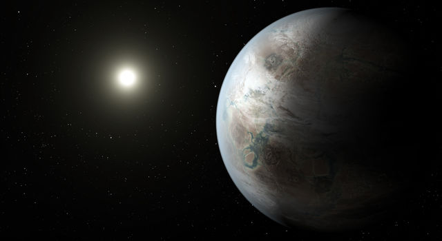Illustration of Kepler 452b