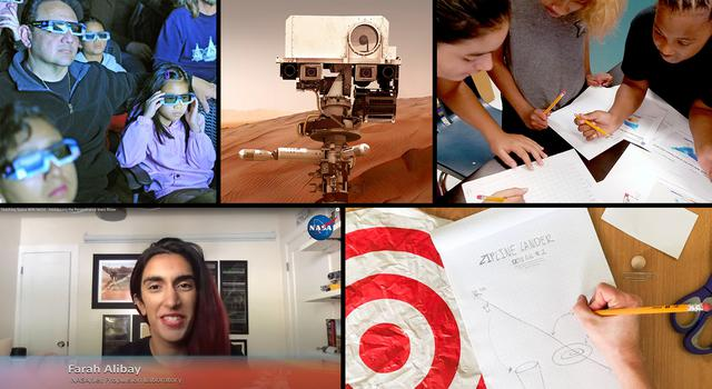 Collage of NASA-JPL education resources