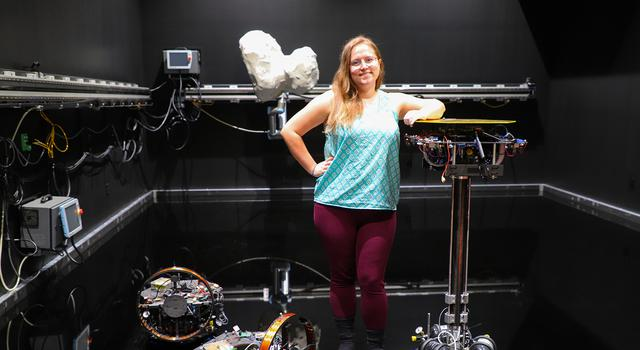Becca Foust in the test bed at Caltech