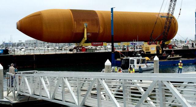 ET-94 comes into port in Marina del Rey in Los Angeles