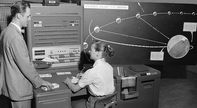 A computer works with an engineer at JPL.