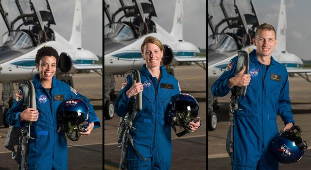 "NASA Astronaut Candidates Jessica Watkins and Loral O'Hara and Warren ""Woody"" Hoburg"