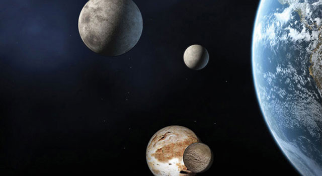 Dwarf planets compared with Earth
