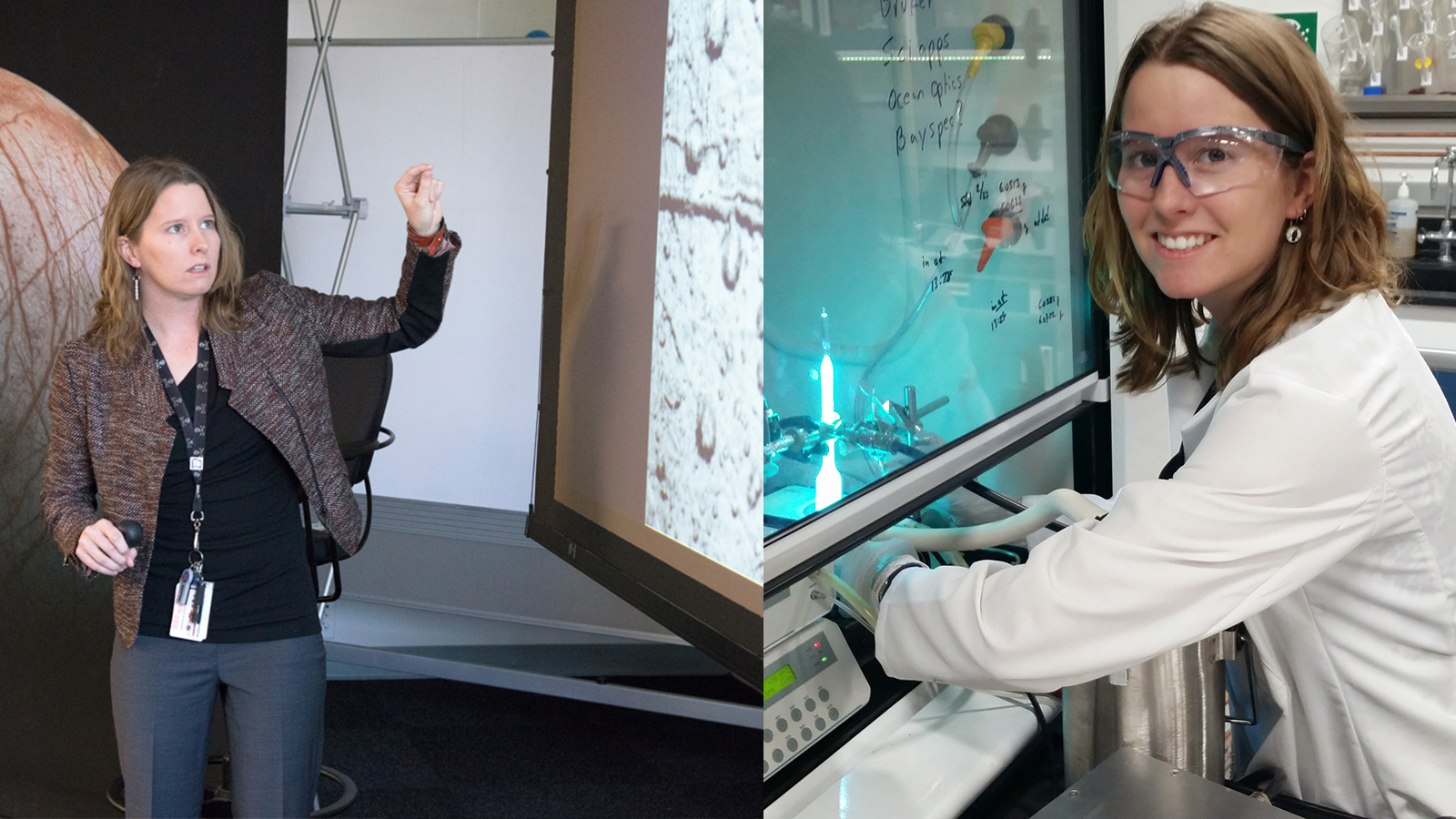 JPL research scientist and astrobiologist Morgan Cable is searching for life on ocean worlds