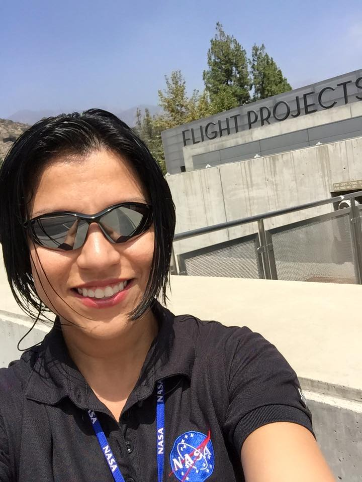 JPL engineer Elizabeth Real builds systems that allow engineers to create spacecraft trajectories